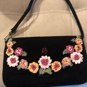 Black velvet evening/ party purse